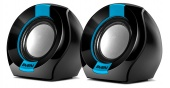 Колонки Sven 150 2.0 (2x2.5W, USB) black/blue